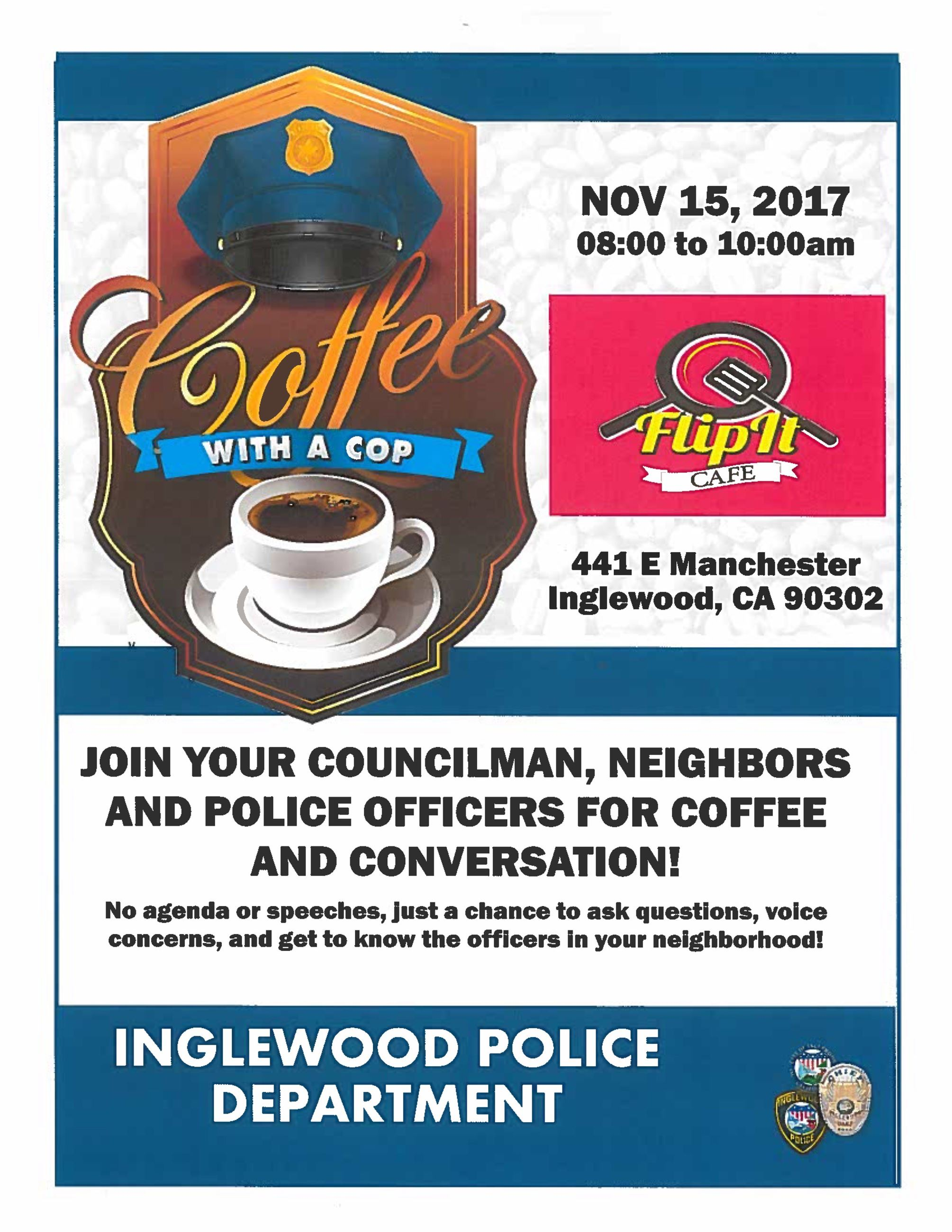 Coffee with a Cop Flip it Cafe