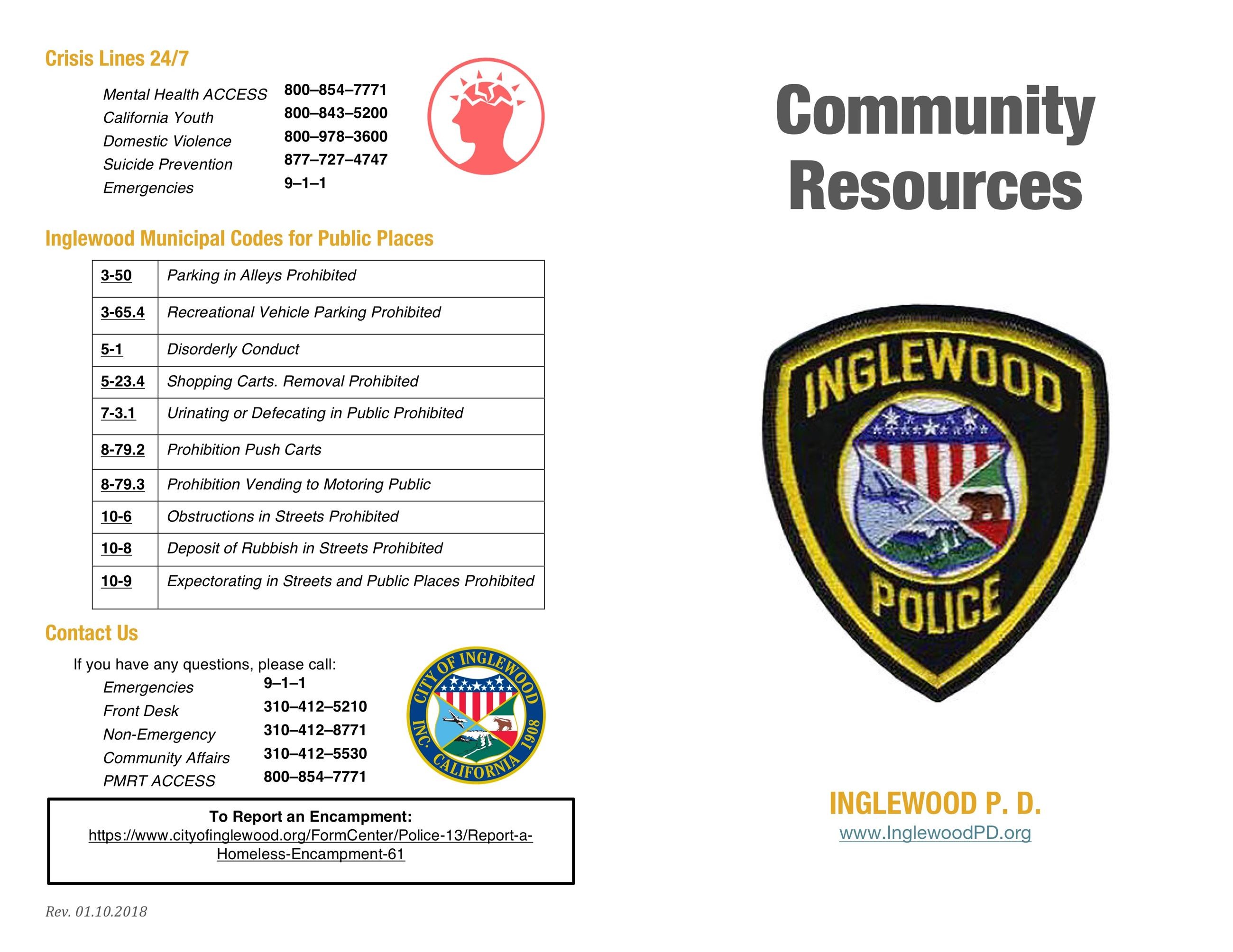 Community Resource Brochure